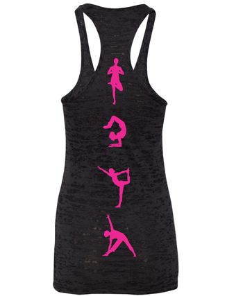 Yoga Pink Poses Burnout Tank