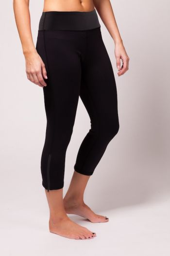 Run Crop Pant - Black