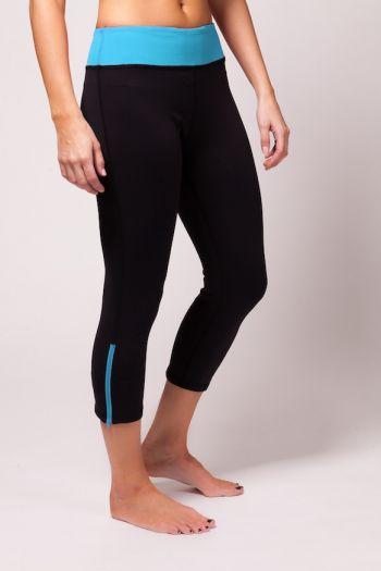 Run Crop Pant - Turquoise