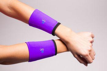 1/2 lb Wrist Weights Cuffs - Purple