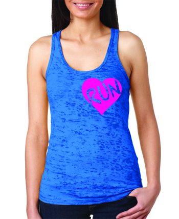 Run with your heart burnout tank